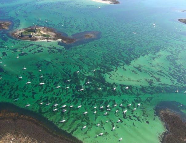 Les eaux polynésiennes de l'archipel des Glénans